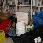 Material Kartons Bücher